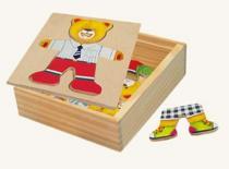Puzzle - šatní skříň - medvídek
