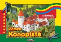 Zámek Konopiště - Jednoduchá vystřihovánka