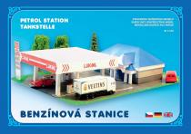 Benzínová stanice - Stavebnice papírového modelu