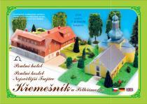 Poutní hotel a Poutní kostel Nejsvětější Trojice Křemešník u Pelhřimova - Stavebnice papírového modelu