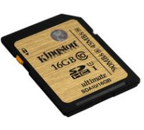Kingston SDHC Ultimate 16GB Class 10 UHS-I