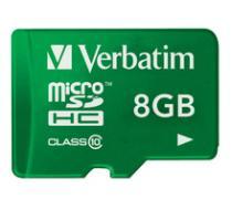 Verbatim Micro SDHC 8GB Class 10 UHS-1