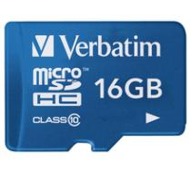 Verbatim Micro SDHC 16GB Class 10 UHS-1