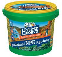 Hoštické hnojivo podzimní NPK s guánem - kbelík 4,5 kg