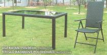 BB stůl ratan 150x90
