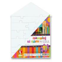 OEM Namaluj si sám domeček Puzzle 11 dílků