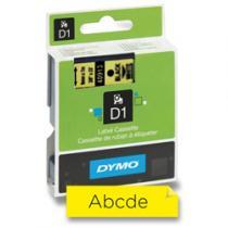 Dymo samolepicí polyesterové pásky pro štítkovače černá žlutá 12 mm x 7 m