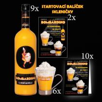 G. Bertagnolli 9 x Bombardino 1,0L 6 originál skleniček