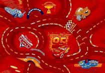 Vopi Dětský The World of Cars 10 - 133 x 133 cm, Červená