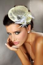 Livia Corsetti Mini top hat 30 - krémová