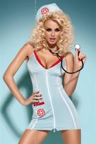 Obsessive Doctor dress modrá