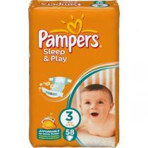 Pampers Sleep & play 3 midi 58 ks