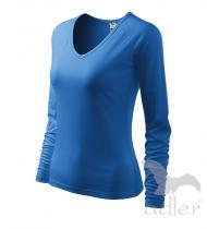 ADLER Elegance azurově modrá Tričko