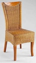 HITRA MARINO TMAVÝ MED ratanová židle