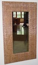 HITRA zrcadlo 50461 100x60cm kůra coklat ratanová