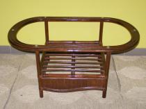 RATANKLUB obývací stolek tmavý ratanový