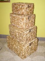 RATANKLUB truhlička vodní hyacint sada 4 kusů
