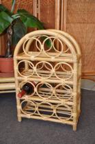 Axin Trading Ratanový stojánek na víno medový