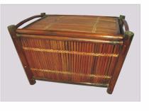 Axin Trading Truhla bambusová menší hnědá