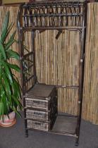 Axin Trading Ratanová stěna hnědá 3 zásuvky