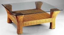 HITRA BRANTAS stůl med 90 x 90 cm ratanový