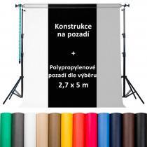 4studio KU-01 + polypropylenové pozadí 2,7 x 5m