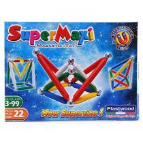 Supermag SuperMaxi klasik magnetická stavebnice 22 dílů