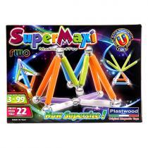Supermag Magnetická stavebnice SuperMaxi fluo, 22 dílů