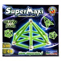 Supermag Magnetická stavebnice SuperMaxi fosfor, 44 dílů