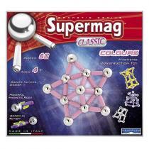 Supermag Magnetická stavebnice Colours classic, 60 dílů