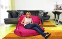 BeanBag 189x140 comfort s popruhy pink