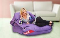 BeanBag 189x140 comfort s popruhy violet