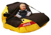 Beanbag 189x140 duo brown-yellow
