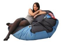BeanBag 189x140 duo dark gray