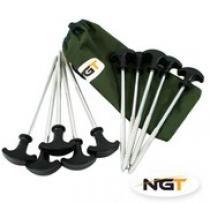 NGT sada zavrtávacích kolíků na bivak 10ks