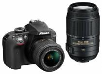 Nikon D3300 + 18-55 mm VR II + 55-300 mm VR