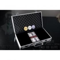 OEM Hliníkový kufr na 300 ks žetonů s příslušenstvím