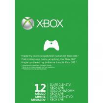 Xbox 360 LIVE Gold 12 měsíců