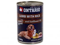 ONTARIO konzerva Lamb, Rice, Sunflower Oil 400g