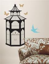 Ptačí klec - samolepky na zeď