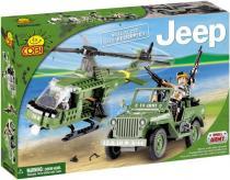 COBI 24254 - JEEP Willys MB s vrtulníkem