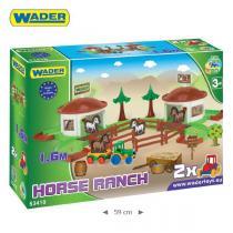 Wader 53410 - Kid Cars 3D - koňský ranč