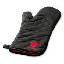 Weber Grilovací rukavice černá s červeným kotlovým grilem