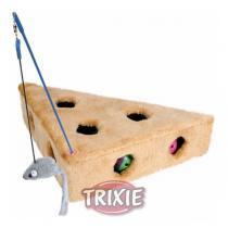 TRIXIE Hračka sýr Ementál s myškou 36x19x31cm