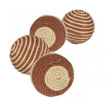 TRIXIE Míčky provázkové - hnědo-béžové 4,5 cm