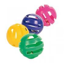 TRIXIE Sada 4 ks plastových míčků s rolničkou 4 cm