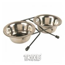 TRIXIE Nerez stojánek + 2 misky 1,8 l / 20 cm