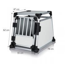 TRIXIE Transportní klec - hliníkový rám pevné panely 55x62x78 cm