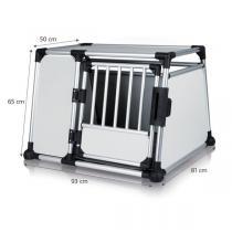TRIXIE Transportní klec - hliníkový rám pevné panely 93x65x81 cm