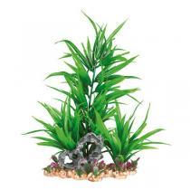 TRIXIE plastová rostlina se skalkou na podstavci 28 cm
